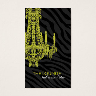 Stylish Zebra Print  Salon and Spa Business Card