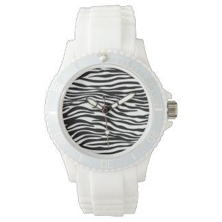 Stylish Zebra Print Wrist Watch