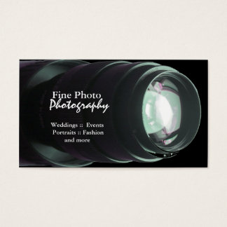 Stylish Zoom Lens Photographer Business Cards