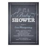 Stylishly Chalked Baby Shower Invitations - Blue