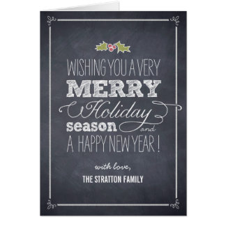 Stylishly Chalked Holiday Greeting Card