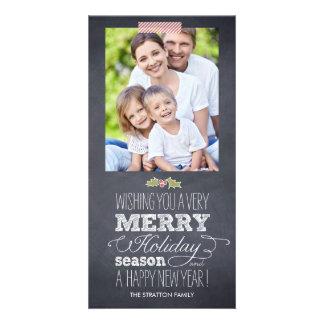 Stylishly Chalked Holiday Photo Card