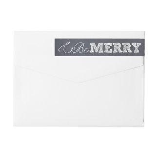 Stylishly Chalked Holiday Wraparound Label