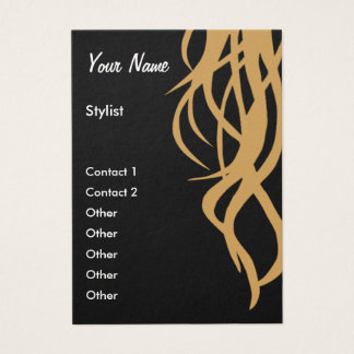 Stylist Business Card - vertical template