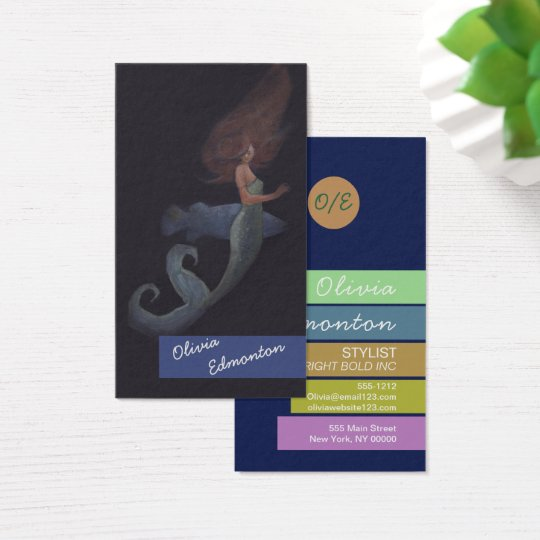 Stylist Hair Mermaid Custom Template Art Print Business Card