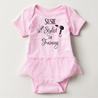 Stylist in Training Baby Romper Salon Beautician Baby Bodysuit