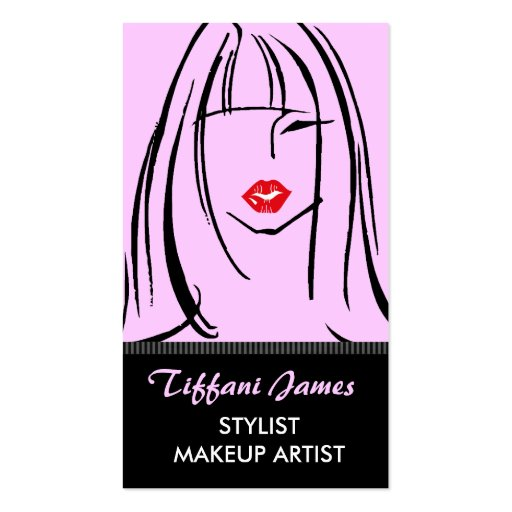 Stylist/Makeup Artist Business Cards