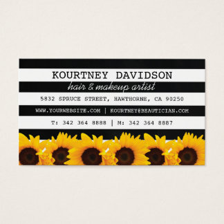 STYLIST SUNFLOWER MAKEUP & HAIR STYLIST BUSINESS CARD