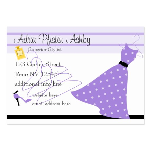 Stylist Three Dresses Pack Of Chubby Business Cards