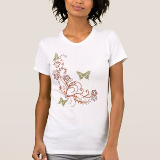 STYLISTIC FLOWERING VINE T-Shirt