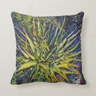Stylized Aloe Throw Pillow / Cushion