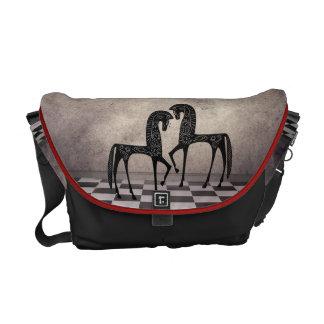 Stylized Arabian Horses Rickshaw Messenger bag