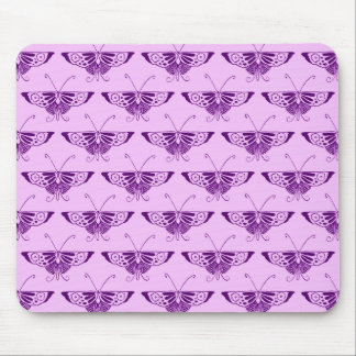 Stylized Art Deco butterfly - purple and orchid Mouse Pad