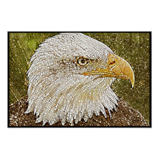 Stylized Bald Eagle Series - Number 11 Poster