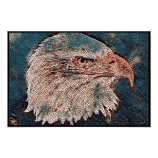 Stylized Bald Eagle Series - Number 2 Poster
