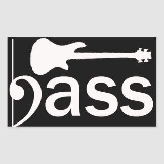 Stylized Bass Guitar Sticker