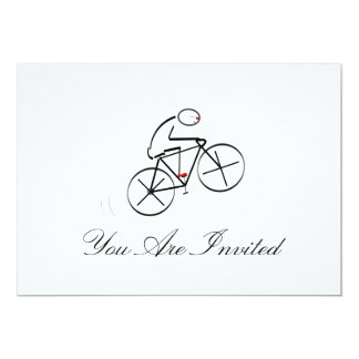 Stylized Bicyclist Design Card