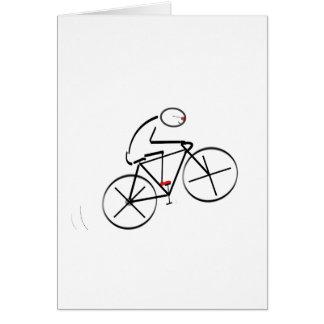 Stylized Bicyclist Design Greeting Card