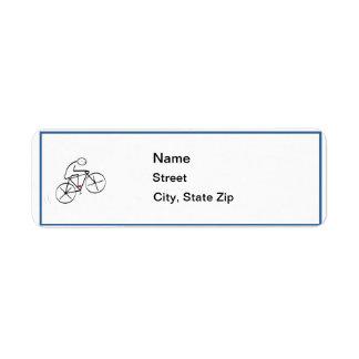 Stylized Bicyclist Design Return Address Label