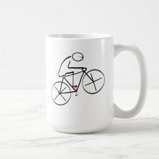 Stylized Bicyclist Design Mugs