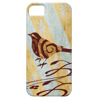 Stylized Bird and Swirls iPhone 5 Cover