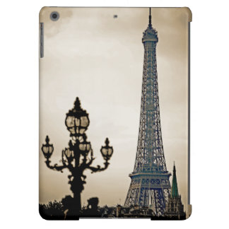 Stylized Black & white image of the Eiffel Tower Cover For iPad Air