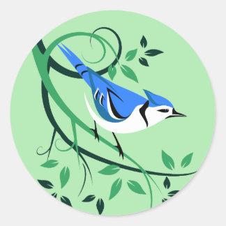 Stylized Bluejay Bird Stickers