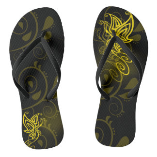 Stylized Butterfly at the Beach Thongs