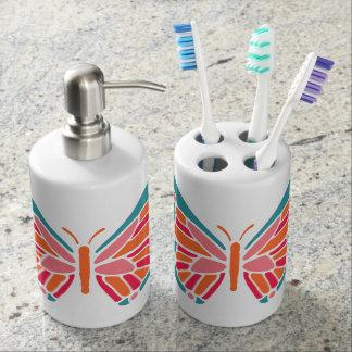 Stylized Butterfly bathroom set