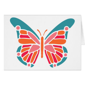 Stylized Butterfly custom greeting card