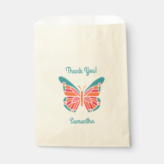 Stylized Butterfly custom text favor bags
