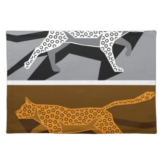 Stylized cat vector placemats