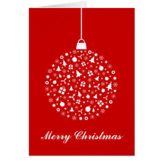Stylized Christmas Ornament Design Card