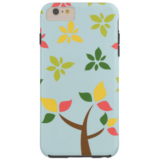 Stylized colorful tree and flowers tough iPhone 6 plus case