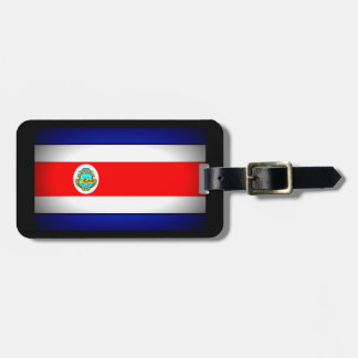 Stylized Costa Rica Flag Tag For Bags