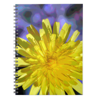 Stylized Dahlia Flower Covered Spiral Journal