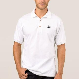stylized dog polo shirt