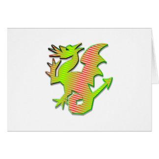 Stylized Dragon Greeting Card