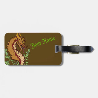 Stylized Dragon Luggage Tag