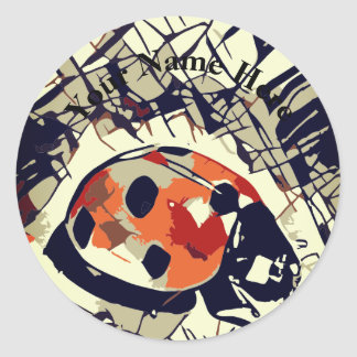 StylizeddrawingofaRedLadybug Classic Round Sticker