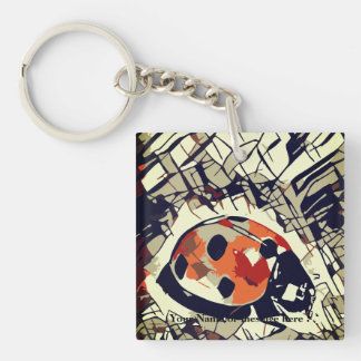 StylizeddrawingofaRedLadybug Key Ring