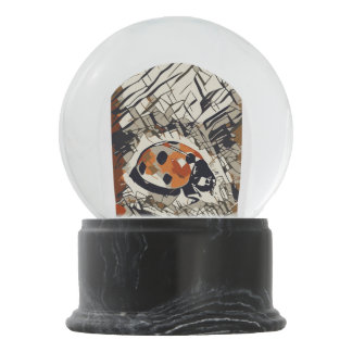 Stylized drawing of a Red Ladybug Snow Globes