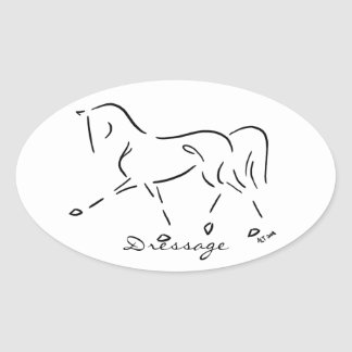 Stylized Dressage Sticker