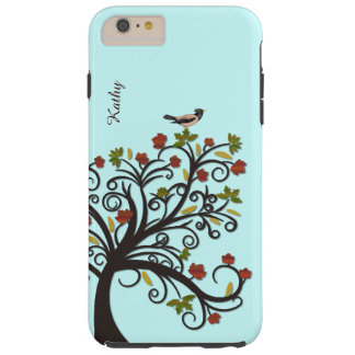 Stylized Fall Tree with Bird iPhone 6 Plus Case