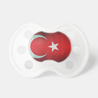 Stylized Flag of Turkey Baby Pacifiers