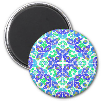 Stylized Floral Check Seamless Pattern Magnet
