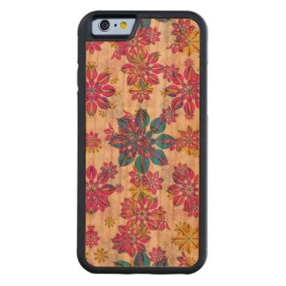 Stylized Floral Ornate Pattern Carved Cherry iPhone 6 Bumper Case