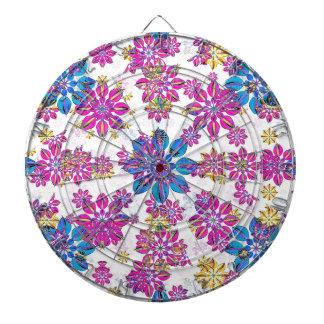 Stylized Floral Ornate Pattern Dartboard