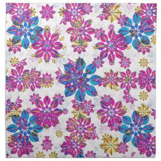 Stylized Floral Ornate Pattern Napkin