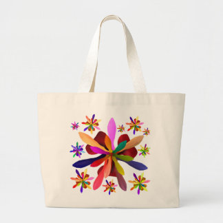 Stylized Flower 1 Large Tote Bag